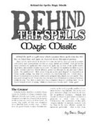 Behind the Spells: Magic Missile
