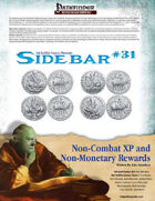 Sidebar #31 - Non-Combat XP & Non-Monetary Rewards