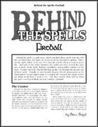 Behind the Spells: Fireball