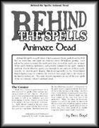Behind the Spells: Animate Dead