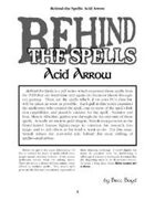 Behind the Spells: Acid Arrow