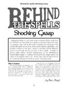 Behind the Spells: Shocking Grasp