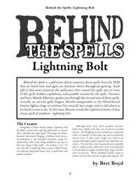 Behind the Spells: Lightning Bolt