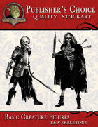 Publisher's Choice - Basic Fantasy Figures (B&W Skeletons)