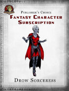Publisher's Choice - Fantasy Characters: Drow Sorceress