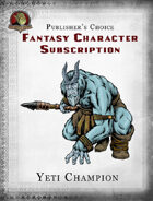 Publisher's Choice - Fantasy Characters: Yeti Champion
