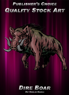 Publisher's Choice - Quality Stock Art: Dire Boar