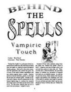 Behind the Spells: Vampiric Touch