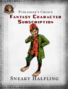 Publisher's Choice - Fantasy Characters:  Sneaky Halfling