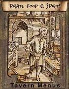 Tavern Menus: Pirate Food & Spirits