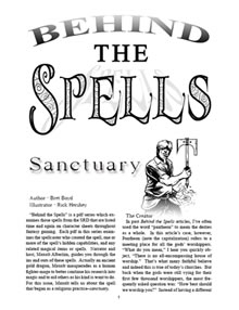 Behind the Spells: Sanctuary