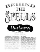 Behind the Spells: Darkness
