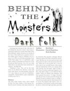 Behind the Monsters: Dark Folk