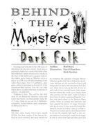 Behind the Monsters: Dark Folk