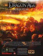 Dragon Age : Ecran du MJ et aides de jeu