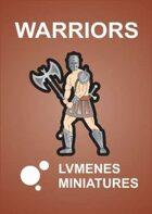 LVMENES Paper Miniatures: Warriors