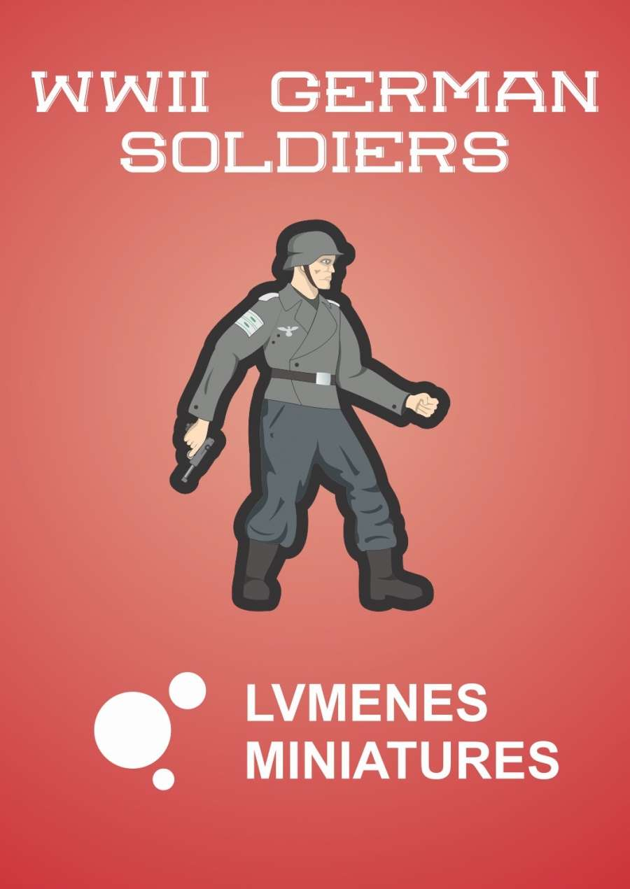 LVMENES Paper Miniatures: WWII German Soldiers