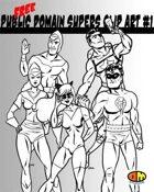 Public Domain Super Hero Clip Art #1