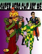 Public Domain Super Hero Clip Art #4