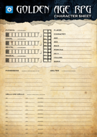 GOLDEN AGE RPG - Second Edition Character Sheet
