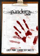 Pandora London - Easy Print Character Sheets