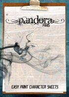 Pandora Paris - Easy Print Character Sheets