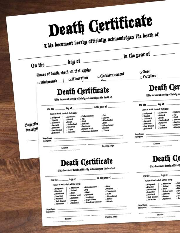 how to find a death certificate