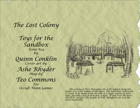 Toys for the Sandbox 24: The Lost Colony