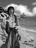 Pirate on the beach