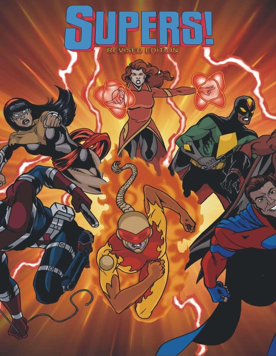 SUPERS! Revised Edition Judge's Screen - HAZARD Studio