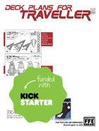 Traveller5 Starships & Spacecraft-1 TWO Deck Plan Set For Kickstarter
