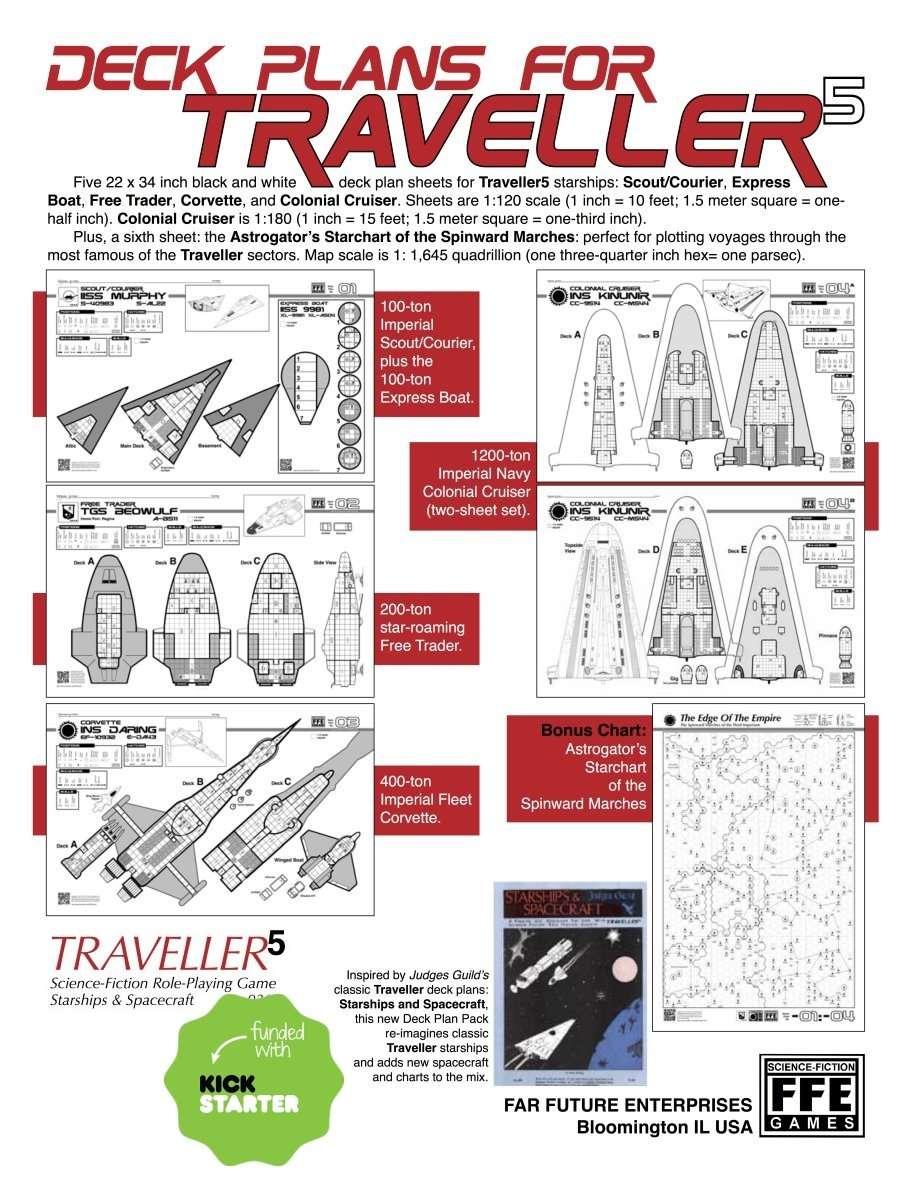 Traveller5 starships spacecraft 2 five deck plan set game quick preview baanklon Choice Image