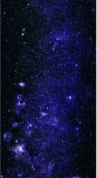 Printable Starfield: Blue Stars