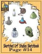 Skortched Urf' Studios Sketchbook Page #14: Potion Bottles