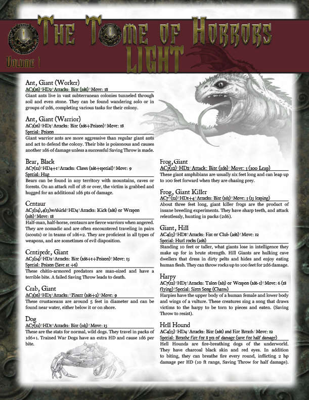 swords and wizardry light pdf
