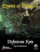 Quests of Doom 4: Nightstone Keep (Swords and Wizardry)