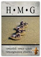 HMG WW1 (World War One) wargame rules