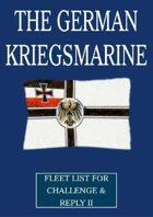 WW1 German Kriegsmarine fleet lists for Challenge & Reply 2nd edition rules