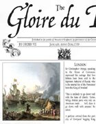 January 1709 AD The Glory of Kings 18th century wargames campaign newspaper