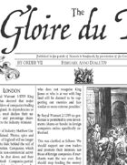 February 1709 AD The Glory of Kings 18th century wargames campaign newspaper