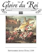 September 1709 AD The Glory of Kings 18th century wargames campaign newspaper