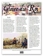 The Glory of Kings December 1710 18th century wargames campaign newspaper