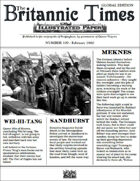 Scramble for Empire Victorian Colonial Steampunk wargames campaign newspaper February 1860