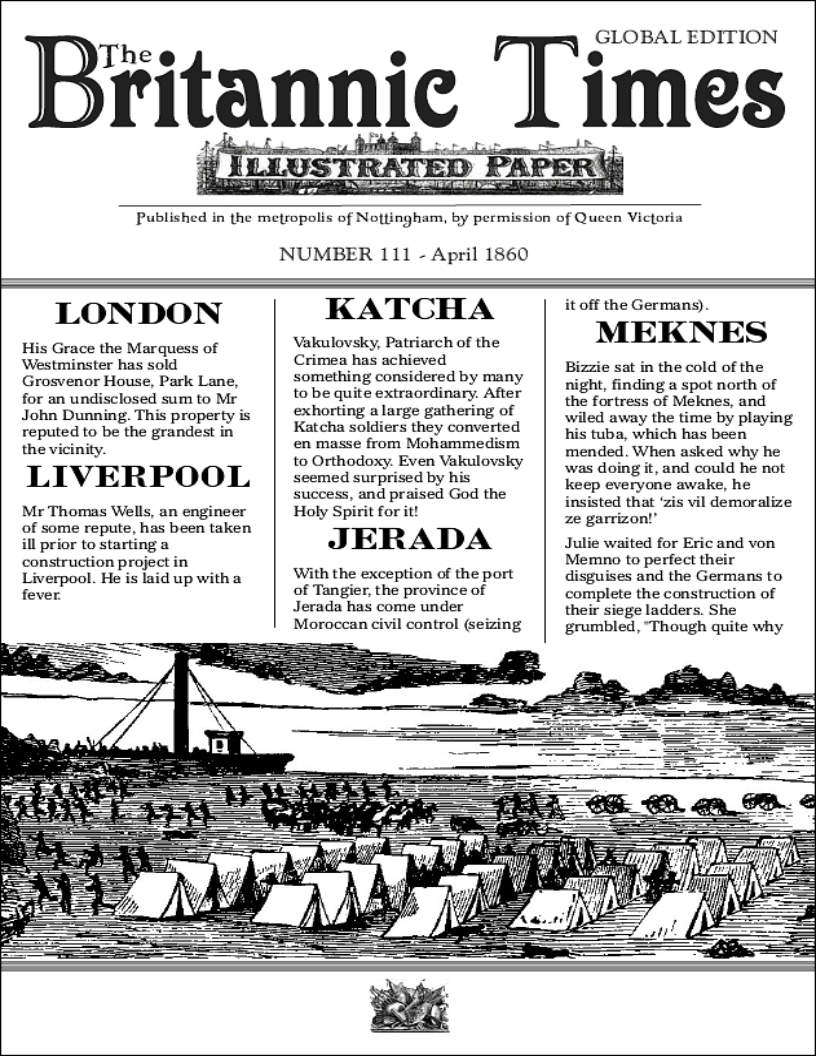 Scramble for Empire Victorian Colonial Steampunk wargames campaign newspaper April 1860