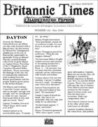 Scramble for Empire Victorian Colonial Steampunk wargames campaign newspaper May 1860