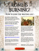 How to join: Rome is Burning! Ancients campaign waiting list