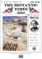 Scramble for Empire Victorian Colonial Steampunk wargames campaign newspaper August 1860