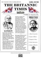 Scramble for Empire Victorian Colonial Steampunk wargames campaign newspaper September 1860