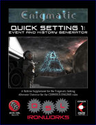 Quick Setting 1: Event and History Generator