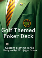 Golf Theme Poker Deck Deluxe Edition